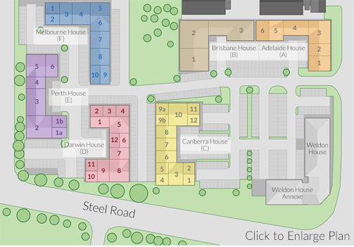 Corbygate Business Park map